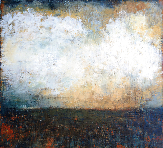 "Boreal 42"" x 48"" encaustic and oil on panel, at John B Aird Gallery"