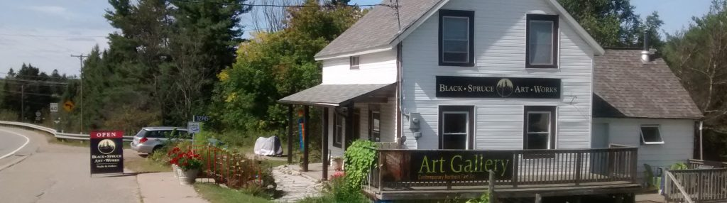 Photo of Black Spruce Art Works, Laura Culic's gallery/studio in Maynooth, Ontario